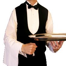 uniformes para garçom atendente de lanchonete, bar padaria