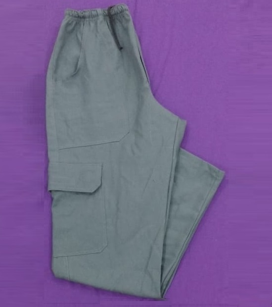 Calça de brim cinza para uniforme de trabalho masculina e feminina