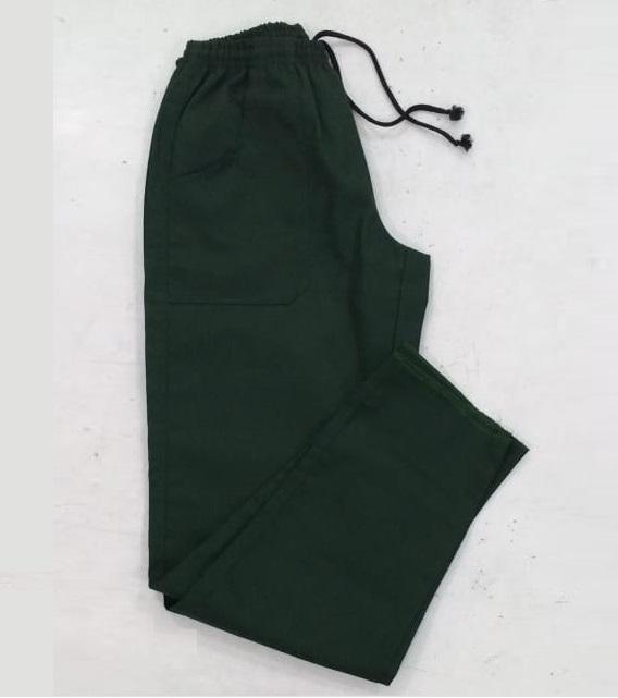 Calça de brim preta para uniforme profissional masculina e feminina
