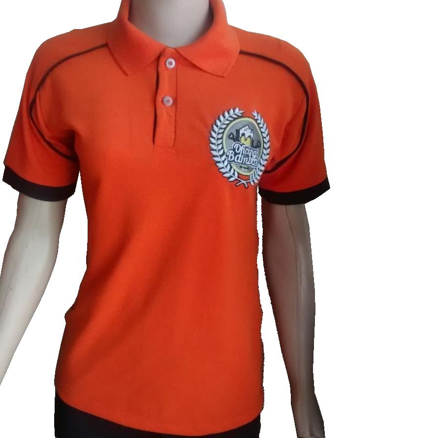 5293e50f05 Confecção de camisa polo em são paulo zona sul loja de fabrica. Camisa polo  laranja bordada