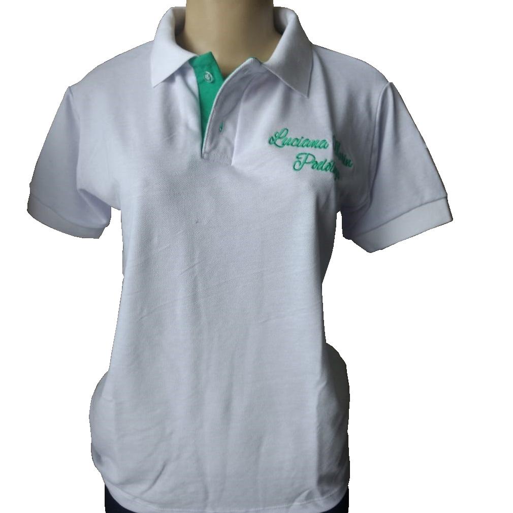4bd9fe8c54 Confecção de camisa polo em são paulo zona sul loja de fabrica. Polo branca  bordada