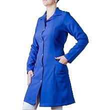 Jalecos de oxford azul personalizados para enfermagem e odontologia